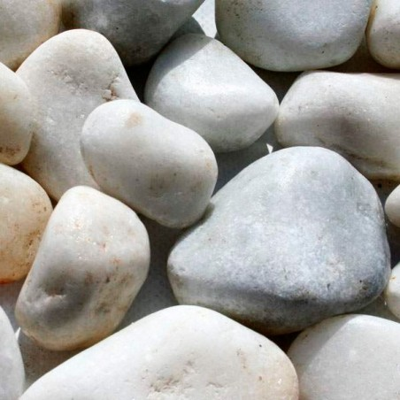 Piedra canto rodado blanco