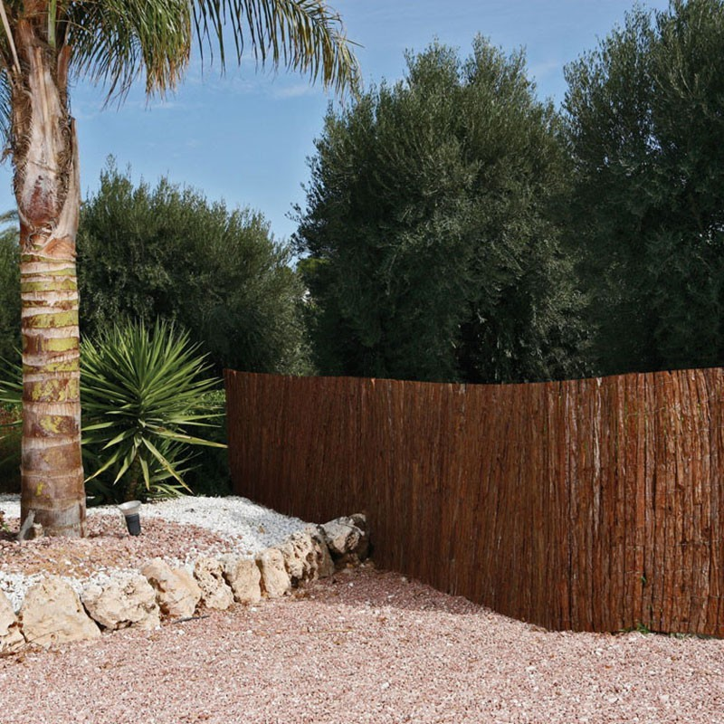 Corteza pino tejida doble cara valla corteza pino - Corteza de pino ...