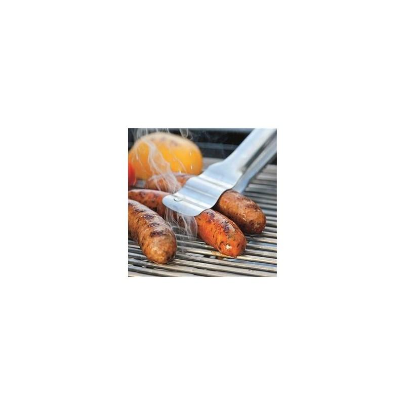 Pinza para salchichas de acero inox.