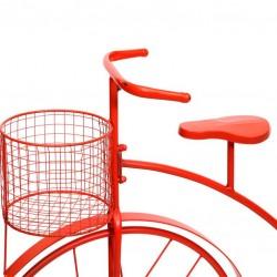Monociclo 2 portatiestos de forja naranja