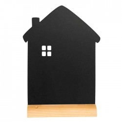Pizarra de mesa con forma de casa