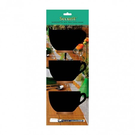 Mini pizarras de mesa Taza (pack de 3 unidades)