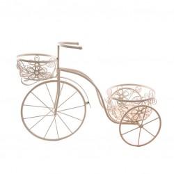 Bicicleta 2 portatiestos blanca