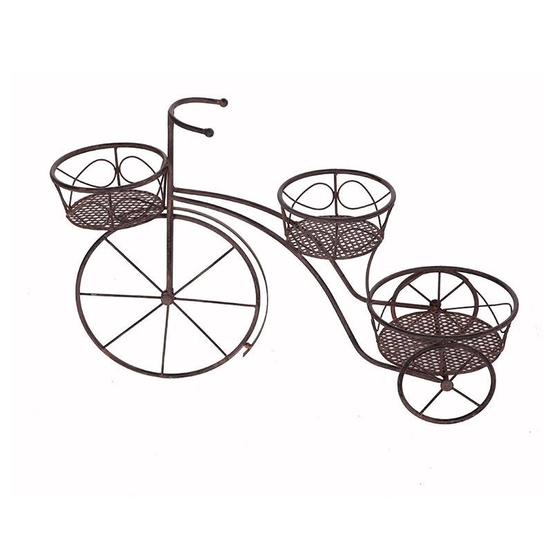 Triciclo portatiestos forja óxido