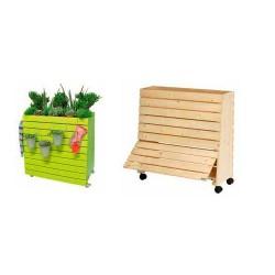 Jardinera alta de madera greenbox