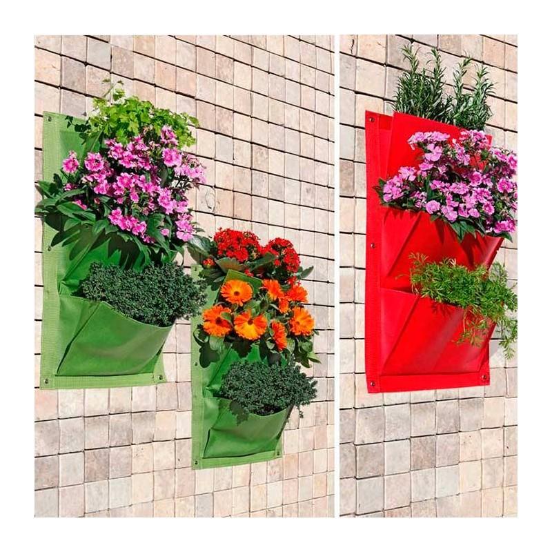 Huerto urbano vertical garden 3 bolsillos