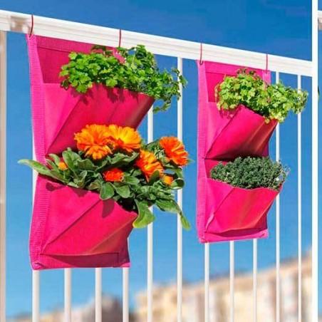 Huerto urbano balkon garden 2 bolsillos  ( 2ud.)