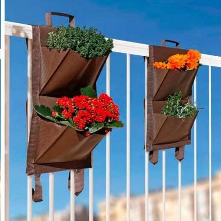 Huerto urbano balkon garden 4 bolsillos ( 2ud.)