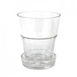 Jarrón cristal macetero con plato.