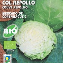 Semillas ecológicas col repollo mercado de copenhague