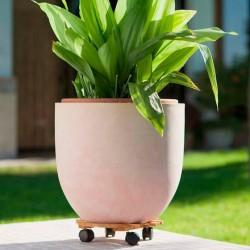 Soporte macetas ruedas patios