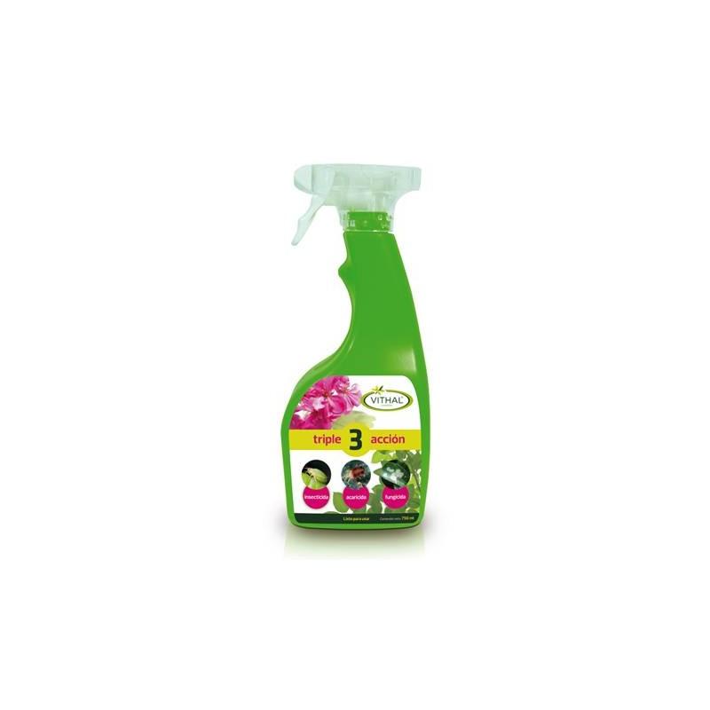 Insecticida triple acción, listo uso