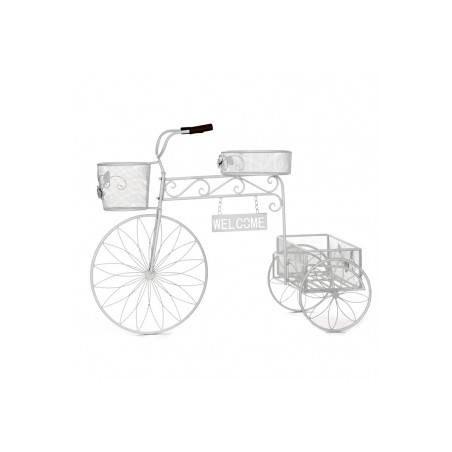 Bicicleta de forja porta tiestos
