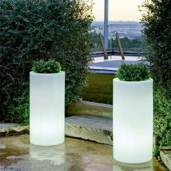 Macetero cilindro palma light