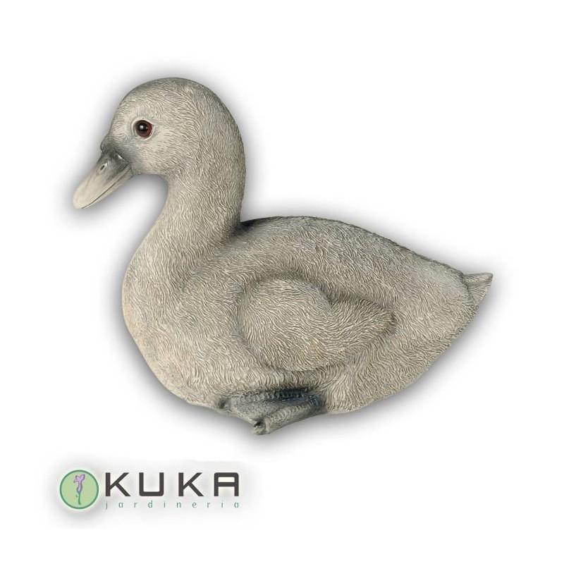 Figura pato gris sentado