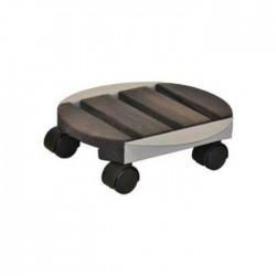 Soporte macetas ruedas pegasus redondo (oscuro)