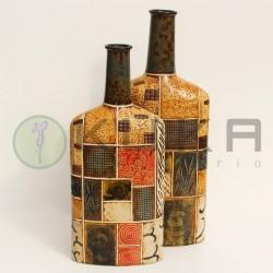 Jarrón cerámica botella