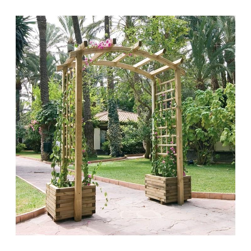 Casa y jard n macetas jardineras de maderas jardinera for Arcos de jardin