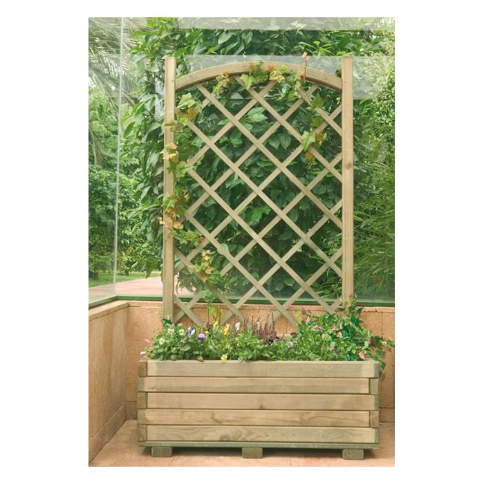 Macetas Jardineras de madera | Jardinera rectangular con celosía |