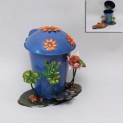 Papelera jardin chapa rana