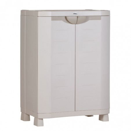 Medio armario gris 70cm. 2 estantes