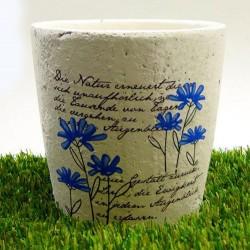 Maceteros de ceramica con flores