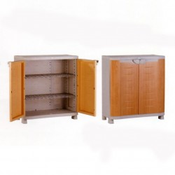 Medio armario 90 cm. 2 estanerias metalicas