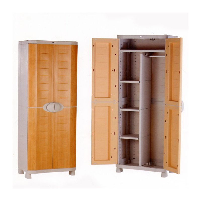 Armario de resina escobero stunning armario de resina - Armario exterior carrefour ...