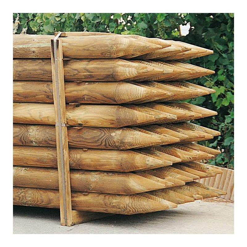 Poste de madera redondo