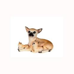 Figura perro chiguagua y cachorro