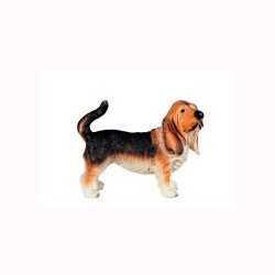 Figura perro basset hound
