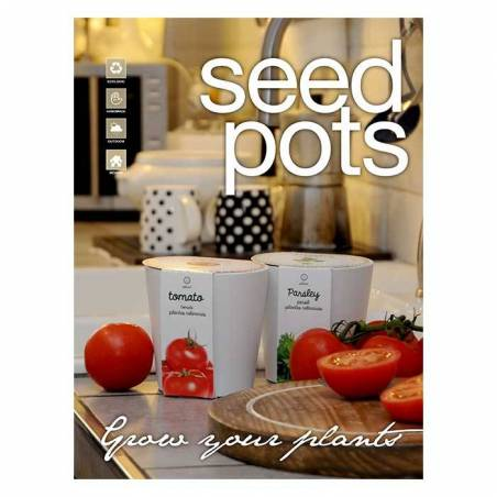 Seed pots hortalizas, aromáticas y frutas